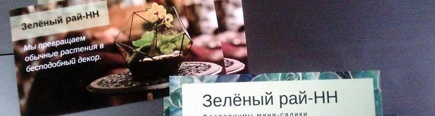Флорариумы и мини-садики «Зеленый рай-НН»