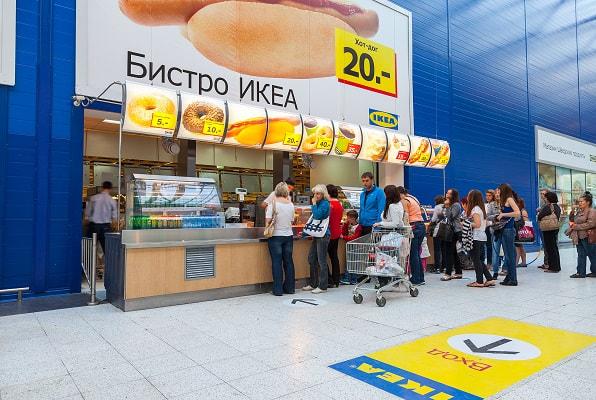 Еда на выходе из IKEA