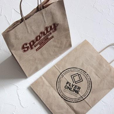 Шелкография на крафт-пакетах